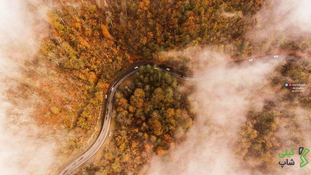 جاده اسالم به خلخال یک جاده رویایی در گیلان + تصاویر