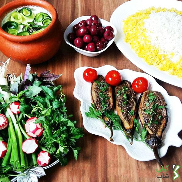 بادمجان کباب گیلانی
