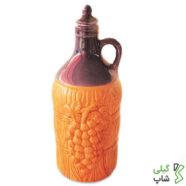 بطری آب سفالی (مدل: استوانه ای)