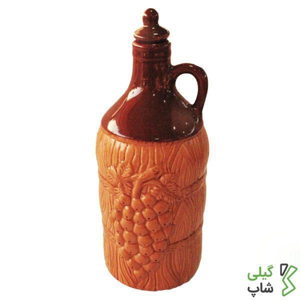 بطری آب سفالی (طرح: انگور)