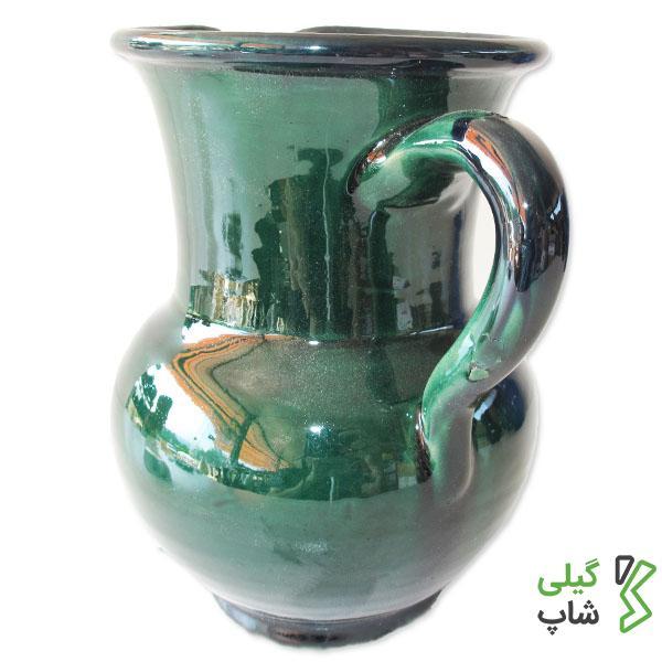 پارچ آب سفالی ساده و لعاب دار (سایز: کوچک)