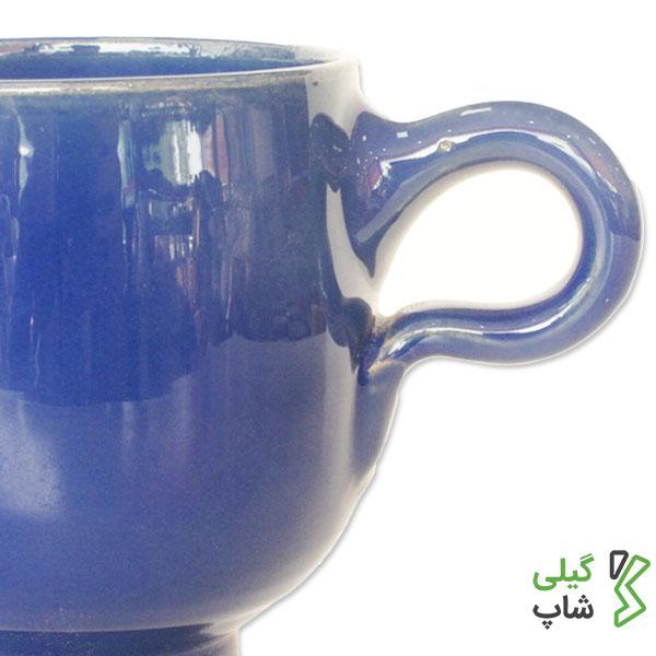 لیوان سفالی ساده (رنگ: آبی)
