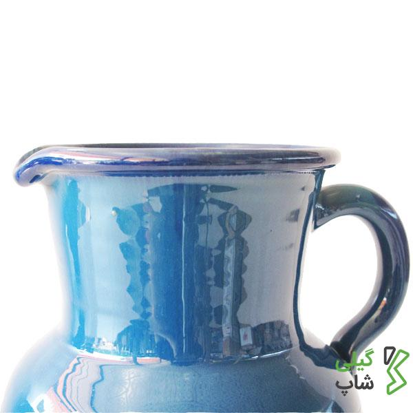 پارچ آب سفالی ساده و لعاب دار (سایز: بزرگ)