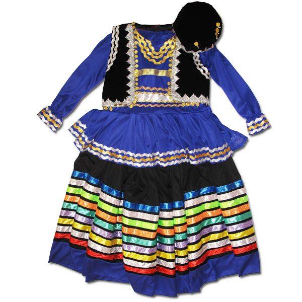 لباس قاسم آبادی گیلان (رنگ: آبی)