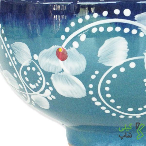 کاسه و پیاله سفالی مخصوص سرو ترشی (رنگ: آبی فیروزه ای)