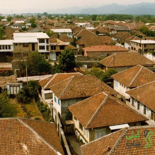 شهرستان آستارا با بام های سفالی
