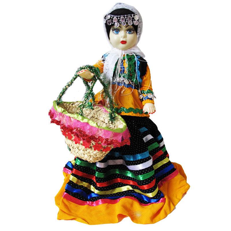 عروسک محلی و دخترانه گیلان | رنگ: زرد