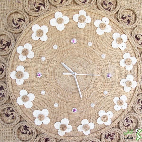 ساعت دیواری کنفی بسیار زیبا (مدل: مستطیل)