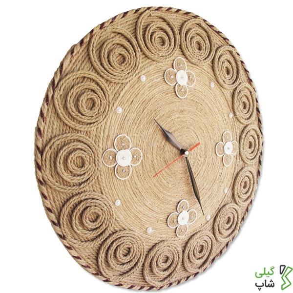 ساعت دیواری کنفی بسیار زیبا (مدل: دایره ای)