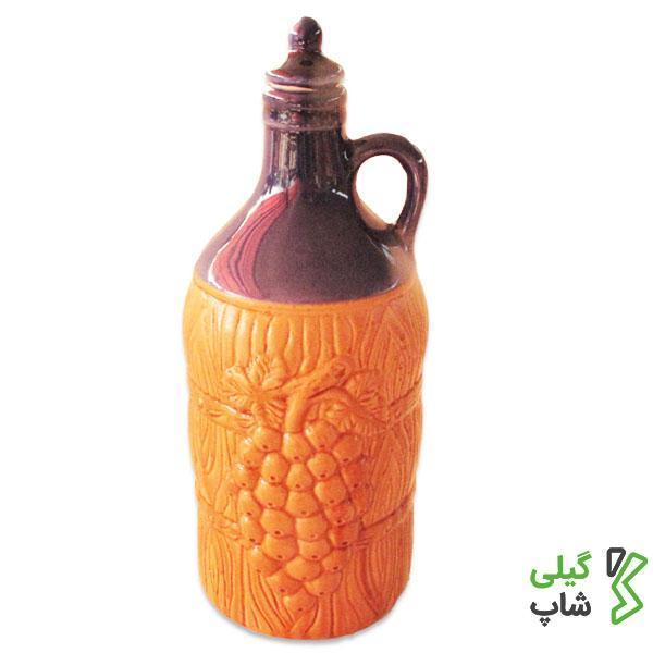 بطری آب سفالی گرد استوانه ای