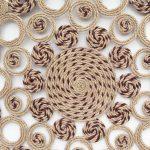 رومیزی کنفی مدل دایره ای