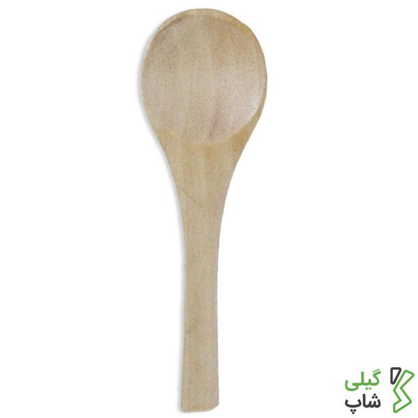 قاشق چوبی کوچک (بسته بندی: ۶ عددی)