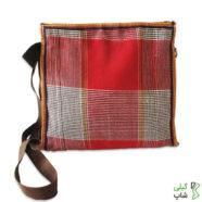 کیف دوشی گلدانی زنانه | طرح چهارخانه