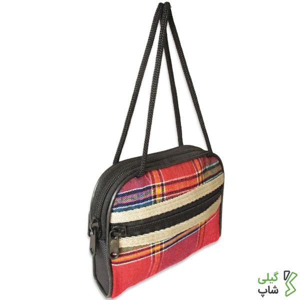 کیف پول سنتی زنانه قرمز (طرح: چادر شب)