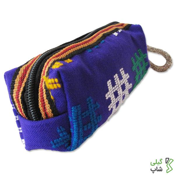 جامدادی سنتی و دست دوز طرح چادر شب | (رنگ: بنفش)