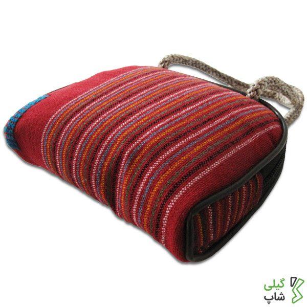 کیف پول سنتی طرح چادر شب قرمز