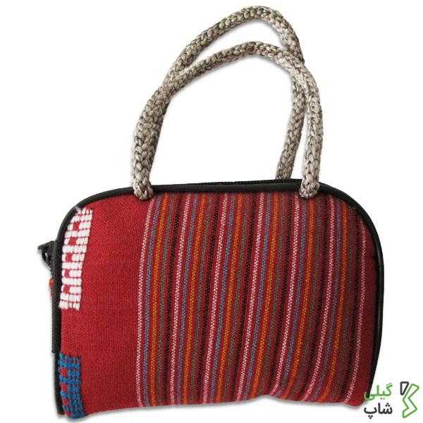 کیف پول سنتی و دست دوز طرح چادر شب | (رنگ: قرمز)