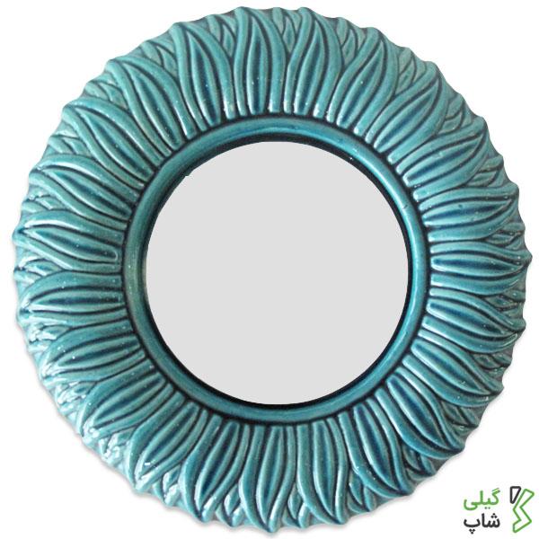 خرید آینه سفالی طرح دایره