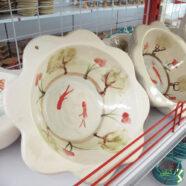 خرید حوض ماهی سفالی سفید رنگ
