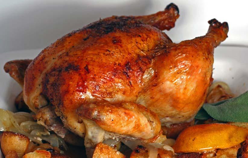طرز تهیه مرغ شکم پر شمالی