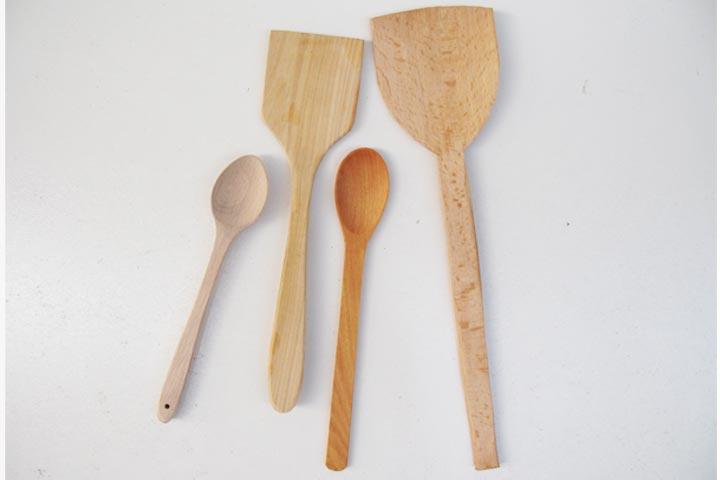 قاشق چوبی و کفگیر چوبی