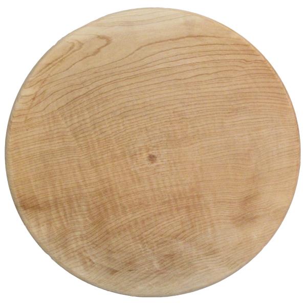 تخته گوشت چوبی گرد لبه دار ۴۵ سانتی متری