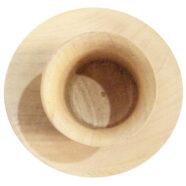 لیوان و نعلبکی چوبی