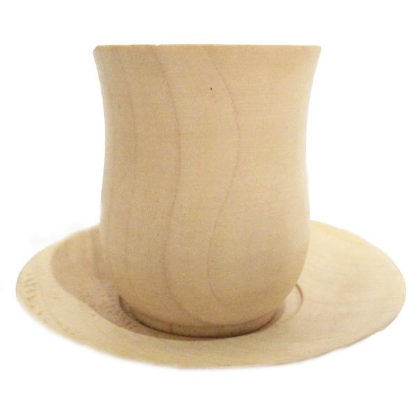 خرید لیوان و نعلبکی چوبی