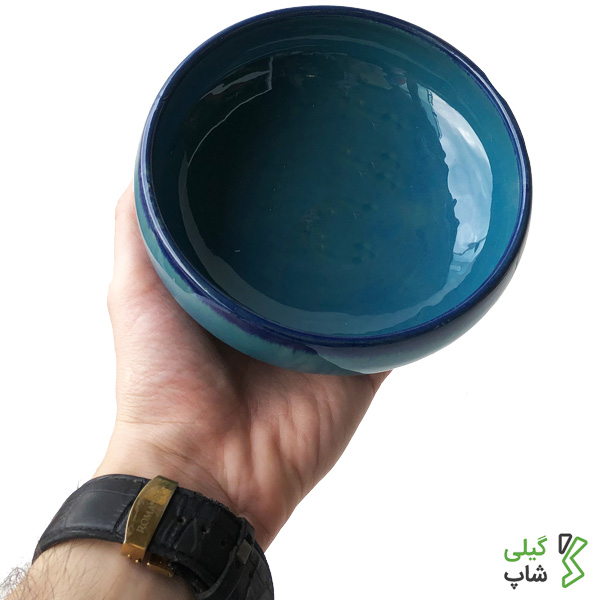 ظرف دیزی خوری سفالی (آبی فیروه ای)