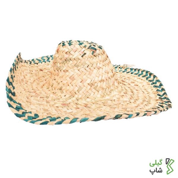 کلاه حصیری مدل لبه های رنگی