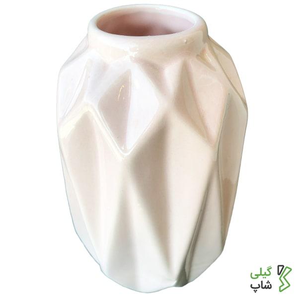 گلدان سفالی طرح مشبک کد: g-018