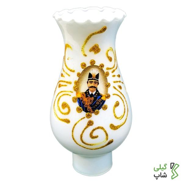 چراغ نسوز سفید 23cm طرح شاه عباسی | کوچک