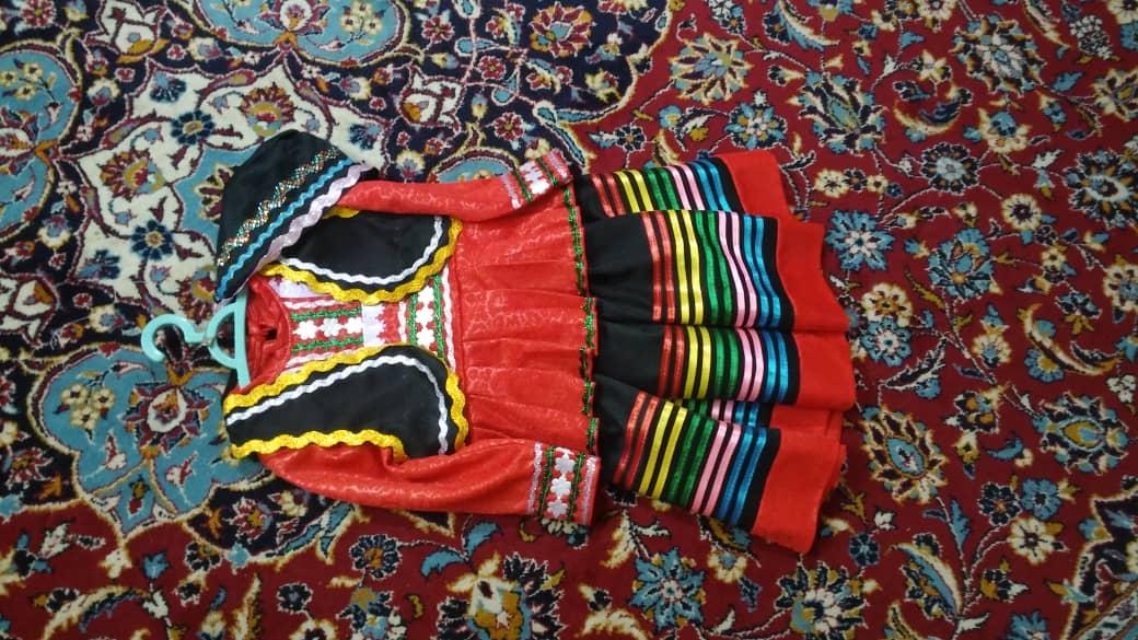 لباس شمالی دخترانه قرمز
