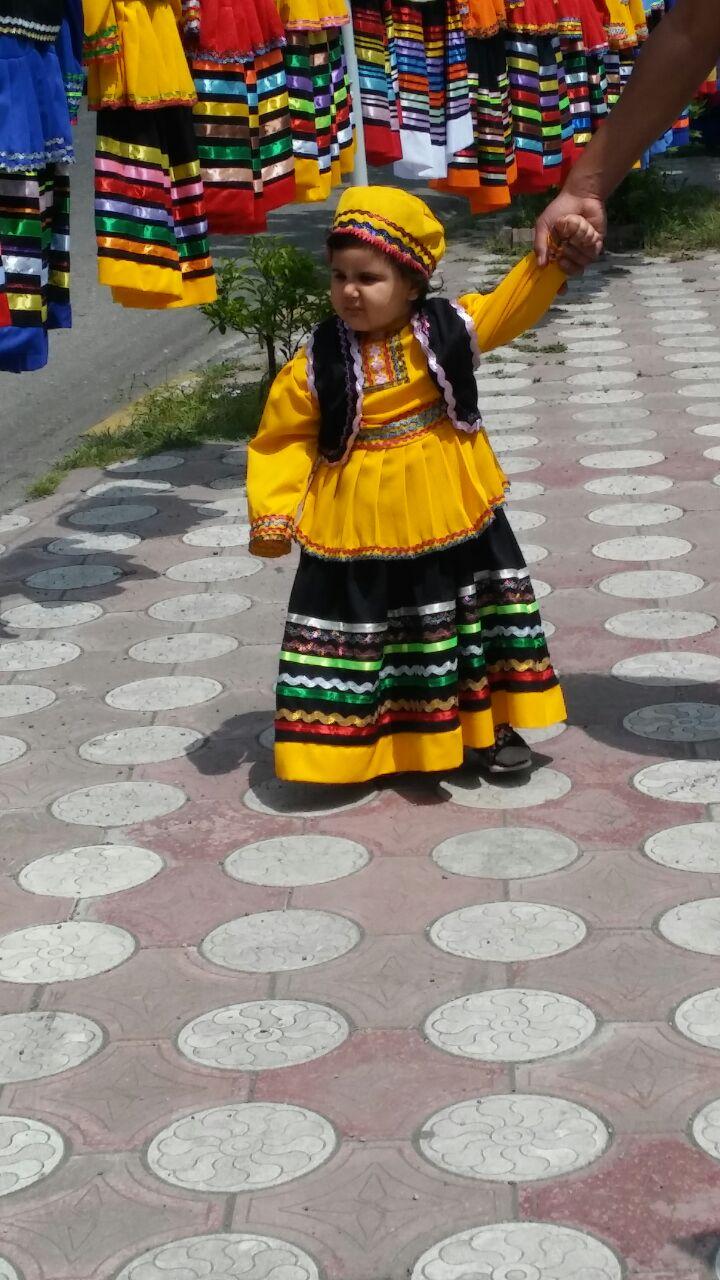 لباس شمالی دخترانه زرد