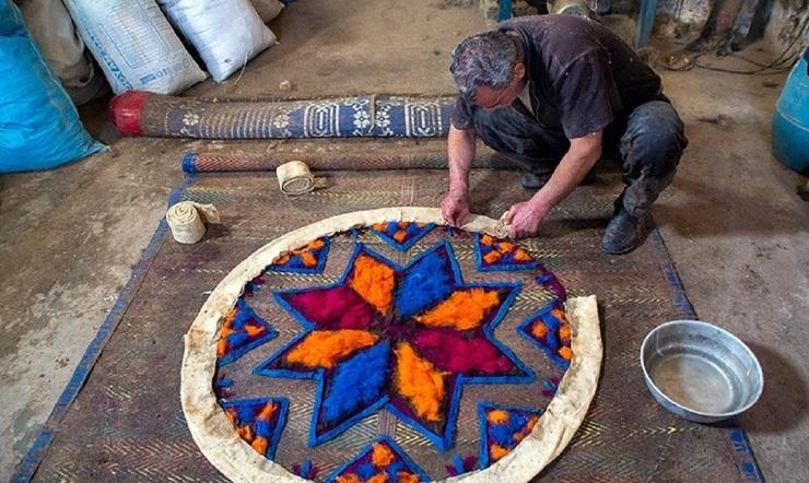 نمدبافی از صنایع دستی شیراز